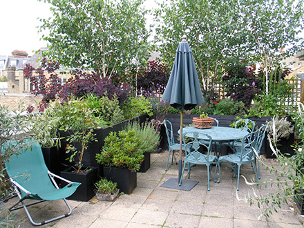 Rooftop spaces and terraces