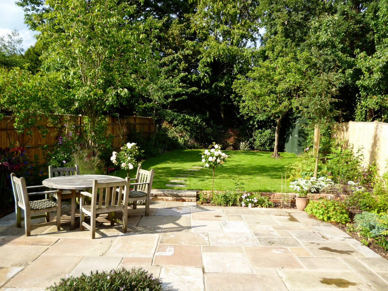 A family garden with room to entertain, relax and play.